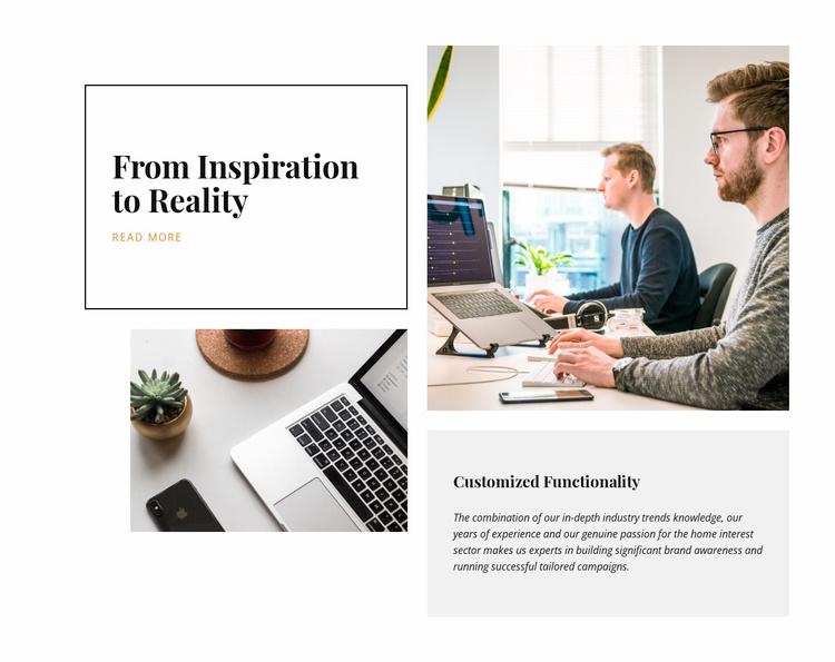 We shape brands Website Template