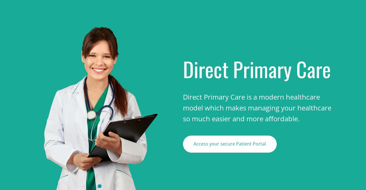 Direct primary care Website Template