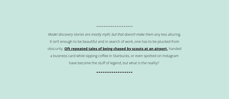 Text on mint background Static Site Generator