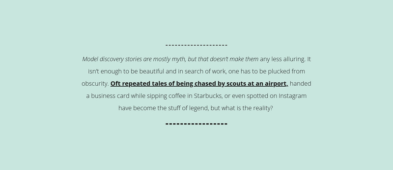 Text on mint background Web Page Design