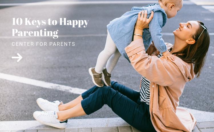 Happy and easy parenting WordPress Website Builder