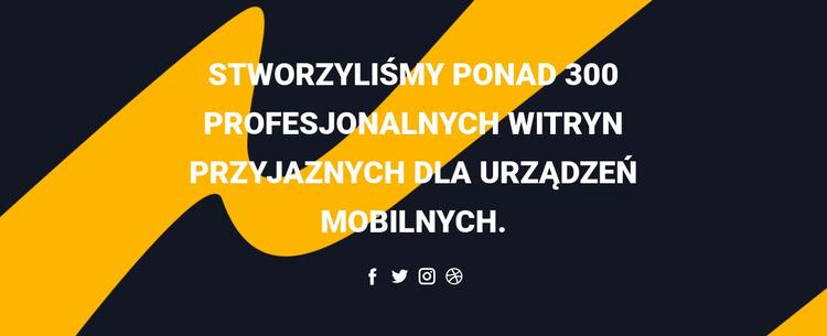 Nagłówek i ikony społeczne Szablon Joomla