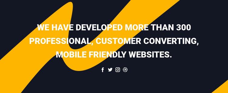 Mobile app and technology Website Builder