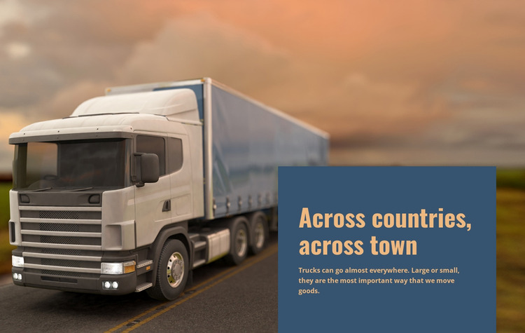 Freight Transportation Across Countries Website Mockup