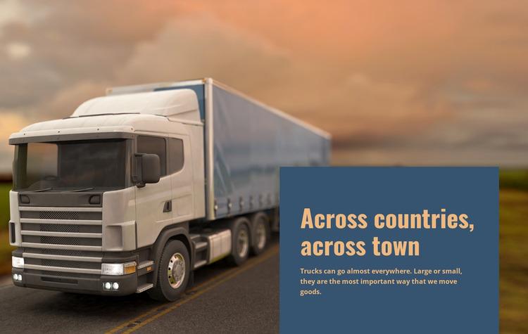 Freight Transportation Across Countries WordPress Website Builder