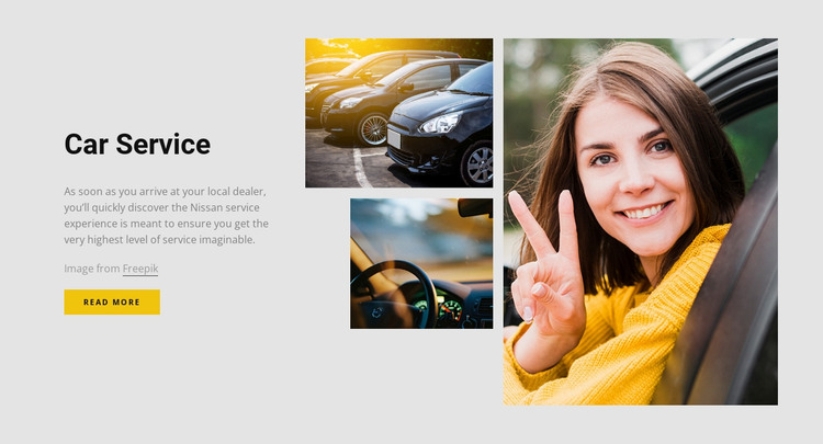 Quick and efficient service HTML Template