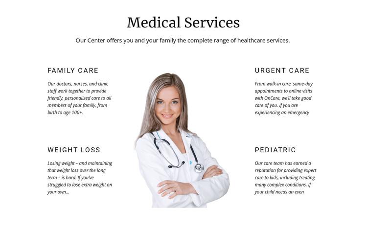 Pediatric medicine HTML Template
