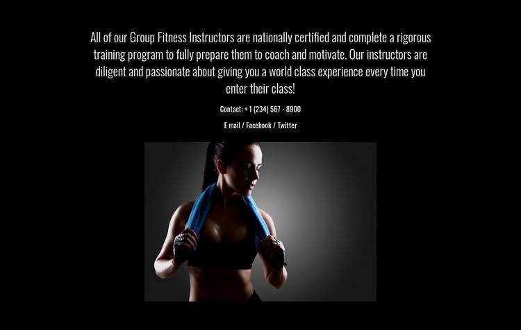 Fitness, nutrition, and mindfulness Website Design
