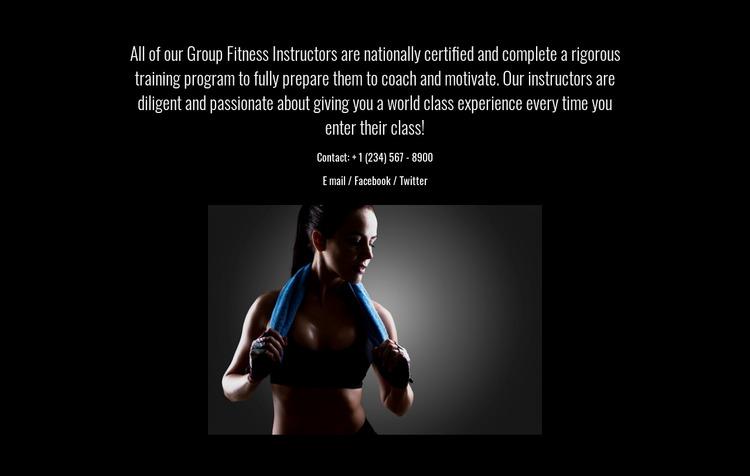 Fitness, nutrition, and mindfulness Website Mockup