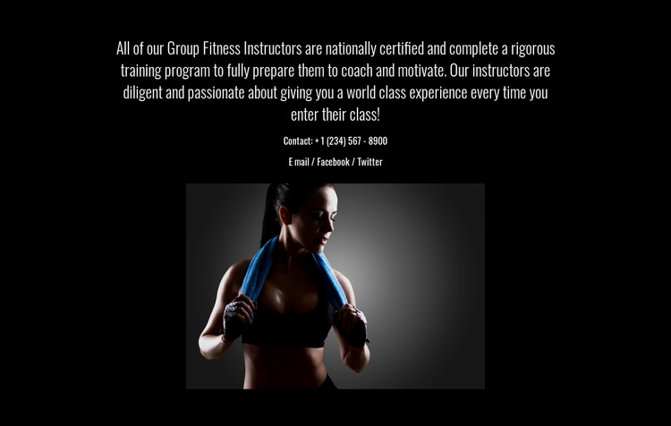 Fitness, nutrition, and mindfulness Website Template