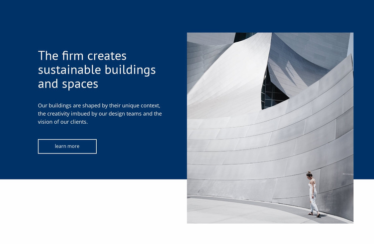 Building sustainable spaces Website Template
