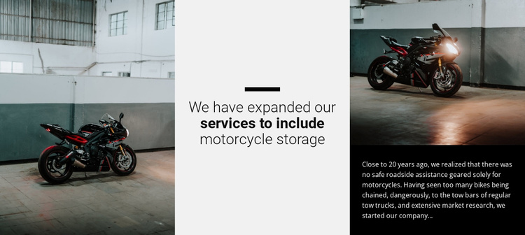 All about motorcycles Website Template