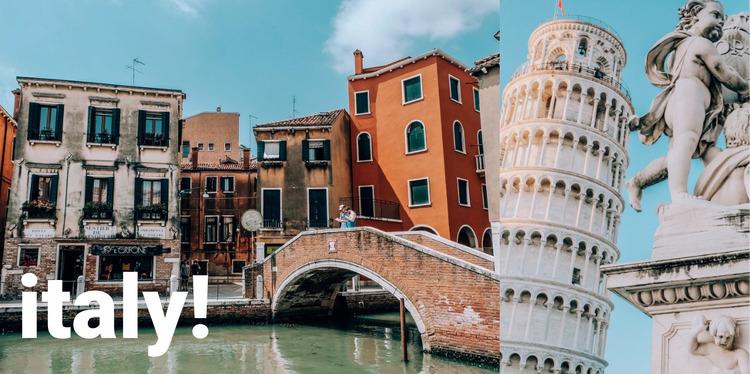 Italy guide Html Website Builder