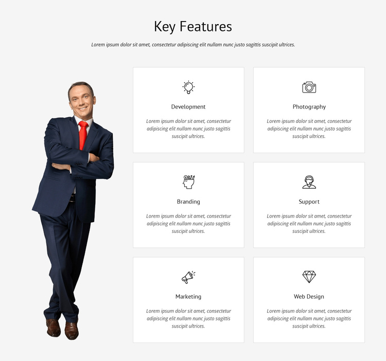 List of key features Website Builder Software