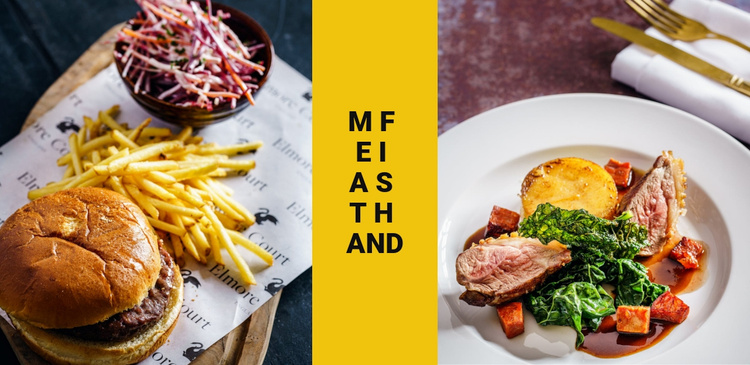 Meet and fast food Website Template