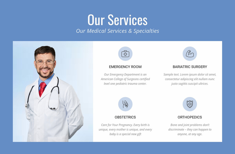 Complete therapy services Website Template