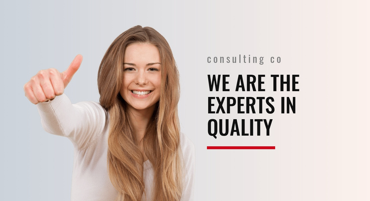 Experts in quality Landing Page