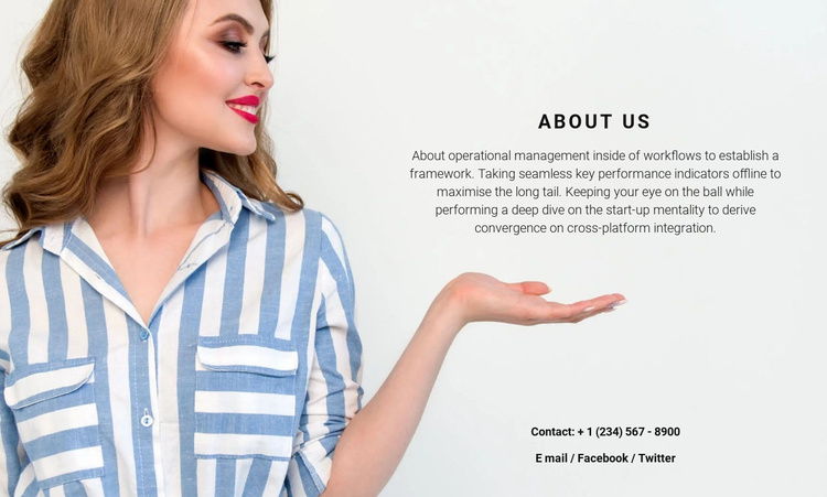 We glad to see you Website Template