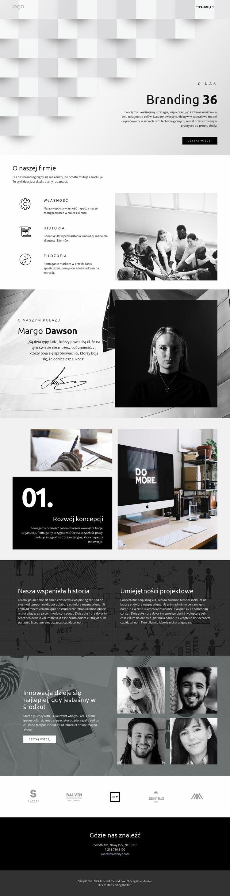 Futurystyczny biznes wyróżniający się Szablon Joomla