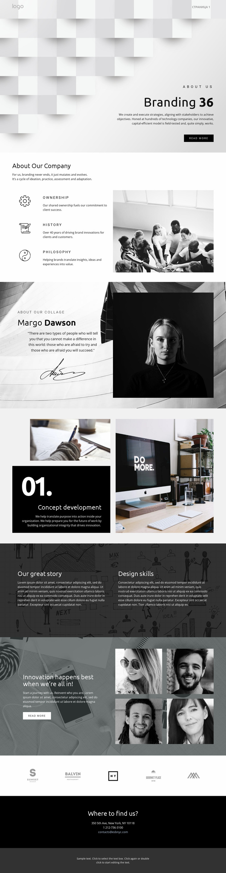 Futuristic standout business Website Mockup
