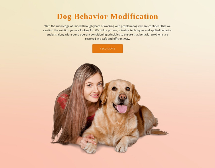 Dog obedience training Website Template