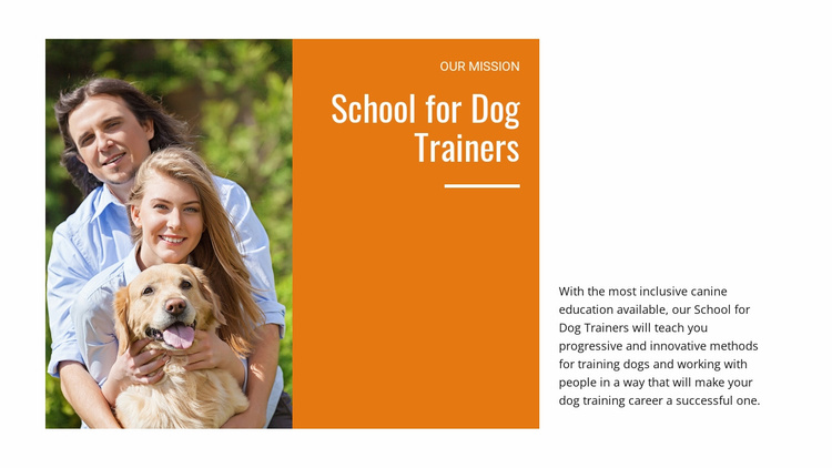 Our dog training school Website Template