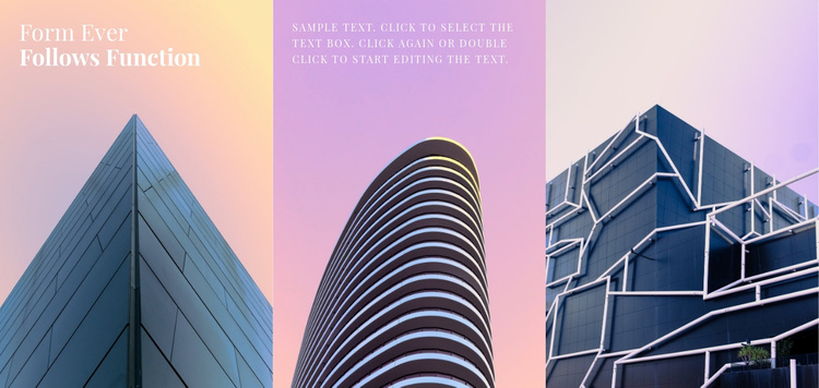 Gallery with color architecture Website Template