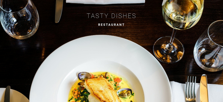 Delicious fish dishes One Page Template