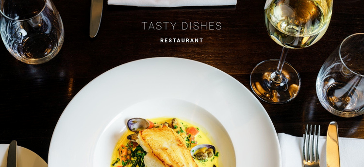 Delicious fish dishes Website Builder Software