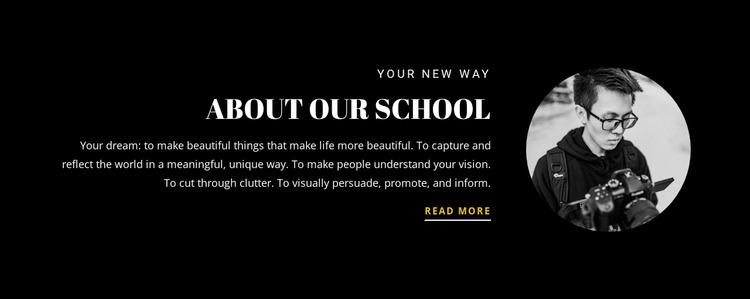 School information WordPress Website Builder