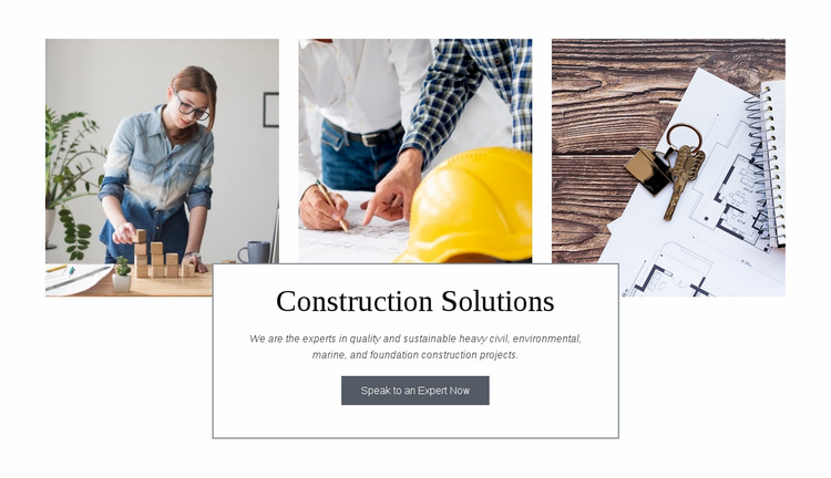 Construction solutions Website Template