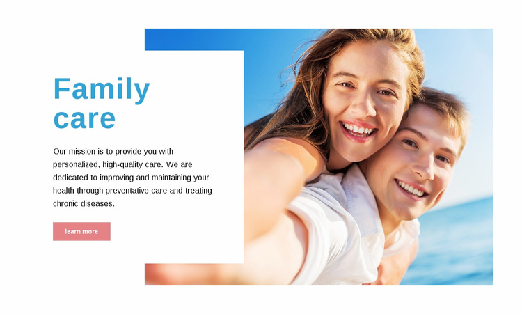 Family care  Landing Page