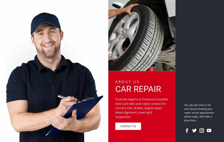 Automotive garage Website Mockup