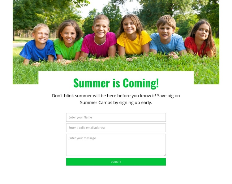 Dynamic learning experience One Page Template