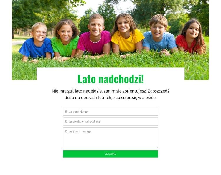 Dynamiczne doświadczenie edukacyjne Szablon witryny sieci Web