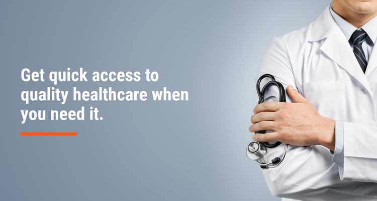 Quality healthcare Website Template