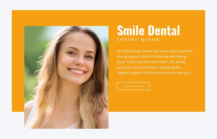 Care for your smile WordPress Website Builder