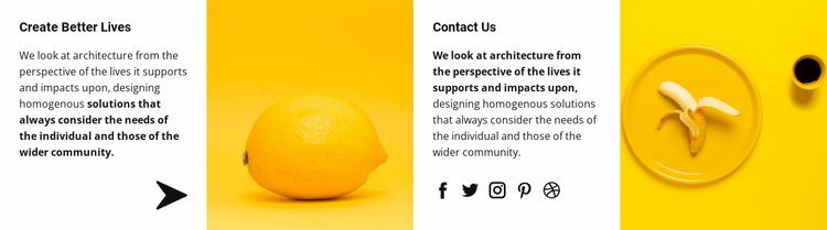 Yellow is our style Website Template