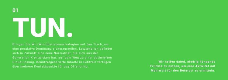 Textfeld auf Hintergrund Website-Vorlage