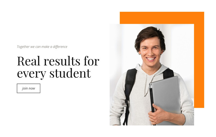 Real results for every student HTML Template