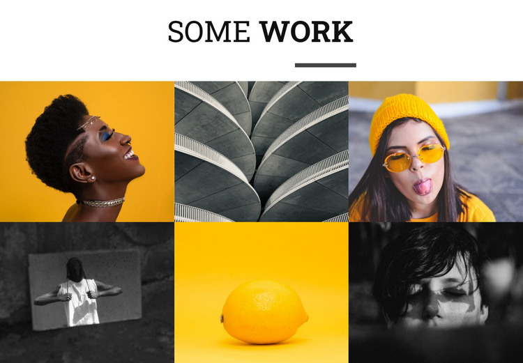 Some works HTML Template
