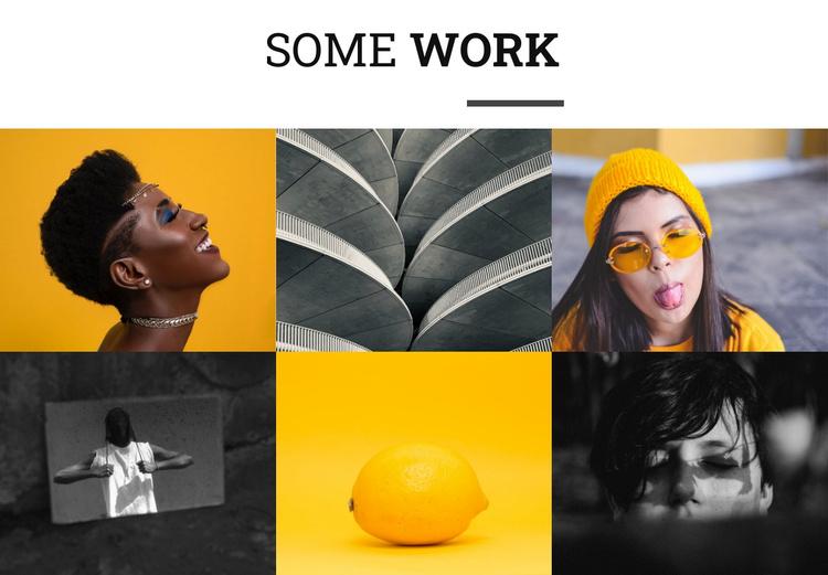 Some works Joomla Template
