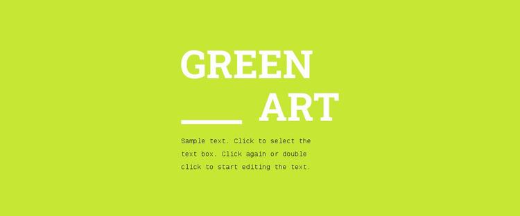Bright colors in design Website Mockup