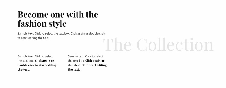 Heading and text in columns Website Template