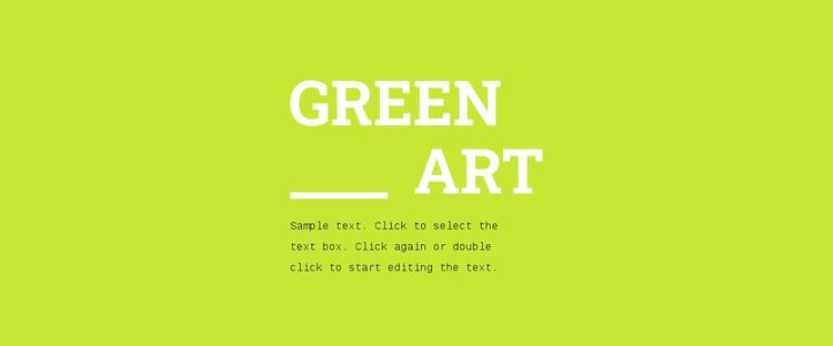 Bright colors in design Website Template