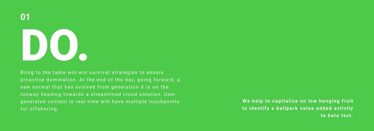 Text box on background Website Template