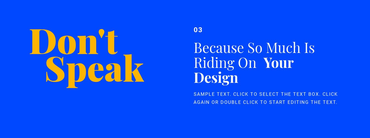 Headings and text in design Homepage Design