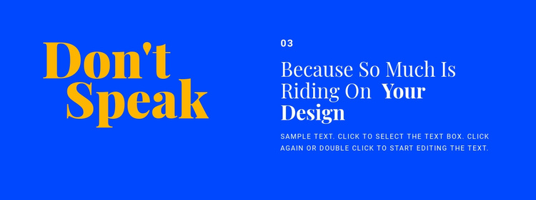 Headings and text in design Website Template