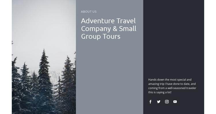 Safaris and expeditions Joomla Template