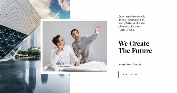 We are the future Website Mockup